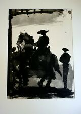 "PICASSO ""TOREROS VIII"" original 1961 photolithography after the5-7-1959 drawing"