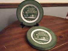 "Royal ""COLONIAL HOMESTEAD"" Green ~ Set of 5 ~ Dinner Plates ~ 10"""