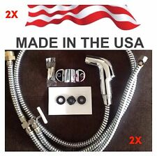 Chrome Bidet Shattaf Muslim Shower. MADE IN USA.TWIN PACK.FREE PRIORITY SHIPPING