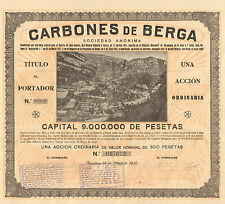 Carbones de Berga SA, accion, 1930