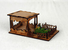 Estremo Oriente o jungle outpost 15mm Laser Cut MDF K508