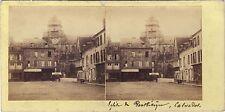 Eglise de Pont-l'Évêque Calvados Stéréo Vintage Albumine ca 1860