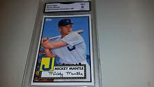 2012 TOPPS HERITAGE MICKEY MANTLE BASEBALL CARD-.CONVENTION VIP GRADED 9 MINT