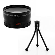0.45x Wide Angle Lens,table tripod for Canon EOS Digital Rebel T1i XS XSi camera