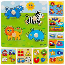 Baby Toddler Intelligence Development Animal Wooden Brick Puzzle Toy Fabulous