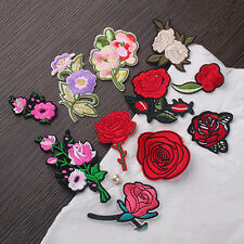 11Pc Rose Flower Embroidery Sew Iron on Patch Cloth Badge Bag Hat Applique DIY