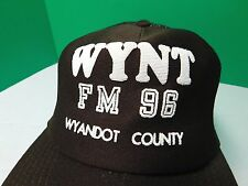 Vintage Snapback Trucker Cap Hat WYNT FM 96 Wyandot County Brown Radio Station