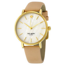Kate Spade New York Vachetta White Mother of Pearl Dial Nude Leather Ladies