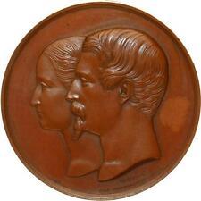 L5017 Médaille Napoléon III Mariage Eugénie Montijo Notre-Dame 1853 Caqué -  F O