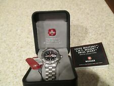 WENGER SMT Design Diver Blue 200m Stainless Day Date SWISS Watch 90655 NIB