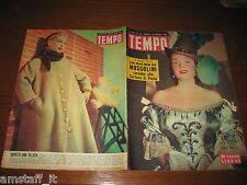 RIVISTA TEMPO 1951/42=CARLA MARZI=SALMA MUSSOLINI=ESTHER WILLIAMS=SUSAN HAYWORD=