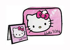 Hello Kitty: Classic Cosmetic Case / Wash Bag & Mirror Set - New With Tag