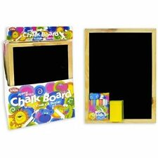 A4 Chalkboard Blackboard Office Memo Chalks Duster Pen & Eraser School UK SELLER