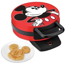 Disney Mickey Mouse Non-Stick Electric Waffle Maker Red and Black