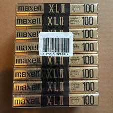 Pack of 8 New Sealed Maxell XLII 100 Cassette Tape Made in Japan