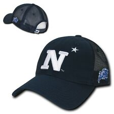 NCAA USNA United States Naval Academy Relaxed Trucker Mesh Caps Hats Navy