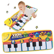 Kids Touch Music Carpet Play Learn Singing Piano Keyboard Mat Blanket Gift Toy