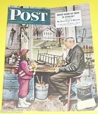 Post Magazine 1949 Stevan Dohanos Mr Fit-It cover Nice Picture! See!
