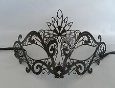 Black Filigree Metal Masquerade Mask No.4 * New * - Express Post Available