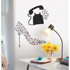 New Giant GIRLS JUST WANT TO HAVE FUN SONG LYRICS WALL DECALS Red Black Stickers