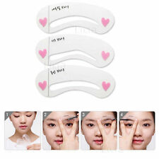 Korean 3 Style Women Eye Brow Class Drawing Guide Stencil Card Template
