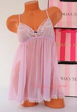 VICTORIA'S SECRET Lingerie VS Fly-away Tulle Lace Babydoll S Small Light Lilac