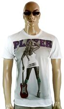 AMPLIFIED SEXY HOT TATTOO GUITAR GIRL Pin Up Rock Star PLAYER STRASS T-Shirt g.L