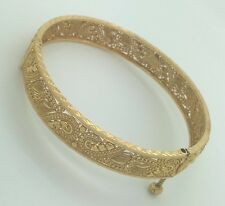 NEW SOLID 22K YELLOW GOLD ARABIC DUBAI ROUND SCREW BANGLE BRACELET 26 Grams
