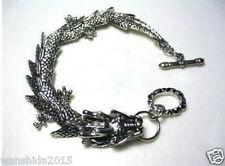Wholesale Men's pretty Tibetan Tibet Silver Bracelets dragon Bangle Bracelet