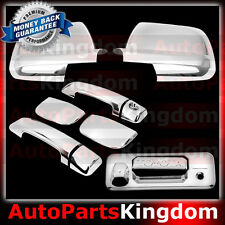 14-16 TOYOTA TUNDRA Double Cab Chrome Mirror+4 Door Handle+Tailgate+Camera Cover