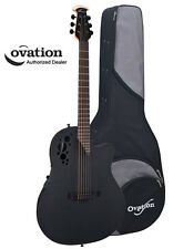 Ovation Elite TX 1778TX-5 Mid-Depth Bowl Acoustic-Electric Guitar - Black w/Case