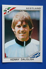 Panini WC MEXICO 86 STICKER N. 341 SCOTLAND DALGLISH WITH BACK VERY GOOD