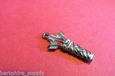 Six  Pewter Bow And Arrow Quiver  Charms