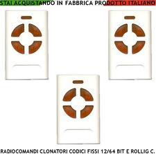 RADIOCOMANDO CLONATORE 3 PZ F 433,92MHz COPIA 4 CODICI COMPATIBILE ALLMATIC FAAC