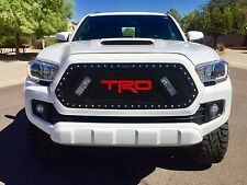 """RaceMesh Trucks 2016 2017 Toyota Tacoma Grille Stainless Mesh 6"""" LEDs grill"""