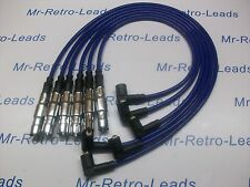 BLUE 8MM HIGH PERFORMANCE IGNITION LEADS QUALITY WILL FIT VW PASSAT 2.8 VR6 HT