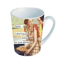 NEW Anne Taintor Ceramic Mug Cup Funny Retro Gift  - OPINION