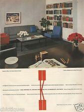 1960 KNOLL Assoc Planning Unit Furniture Chair Sofa Miami Bank Office Print Ad