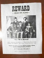 """(737) OLD WEST OUTLAW WILD BUNCH BANDIT GANG $7,500 REWARD REPLICA POSTER 11x14"""""""