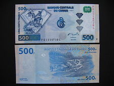 CONGO DEM. REP.  500 Francs 04.01.2002  Printer HdM  (P96A)  UNC