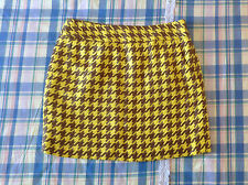Brand New The Limited Woman Yellow/Brown Mini Skirt Size 4