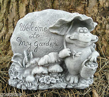New latex  only plaster cement frog w/ rock welcome mould