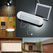 5 LED Solar Powered Light Shed Garage Corridor Lamp Pull Cord Rope Switch Indoor