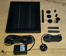 Solar Bomba De Fuente 250ltr batería de respaldo Luces LED agua del estanque cuentan con nuevos