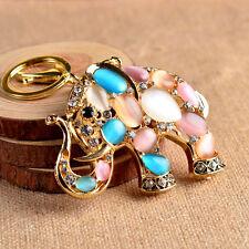 Crystal Rhinestone Elephant Keychain keychain key ring chain bag strap gift