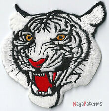 Patche brodé thermocollant Ecusson écusson Tigre Blanc Tiger petit / patch 1326