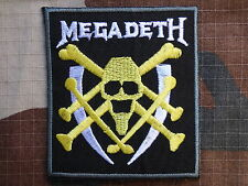 ECUSSON PATCH toppa aufnaher THERMOCOLLANT MEGADETH groupe musique / 7.7X6.9cm