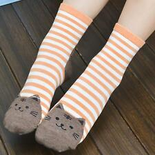 5 colors Cute Womens Girls Sports Casual Cat Striped Ankle High Cotton Socks