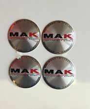 N.4 CAPS COPRIMOZZO MAK WHEELS ORIGINALI E001 60mm 8020001143
