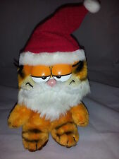 "Garfield The Cat Christmas Santa Hat Beard Plush Dakin 1981 Vintage Lovey 9"" Toy"